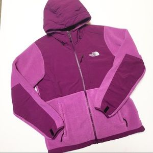 The North Face Hooded Denali Pink Fleece Jacket M